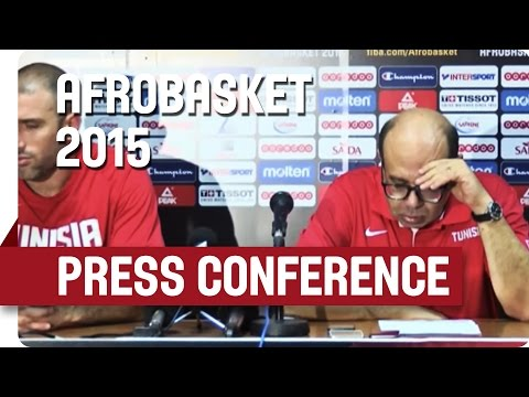 Tunisia v Angola - Post Game Press Conference - AfroBasket 2015