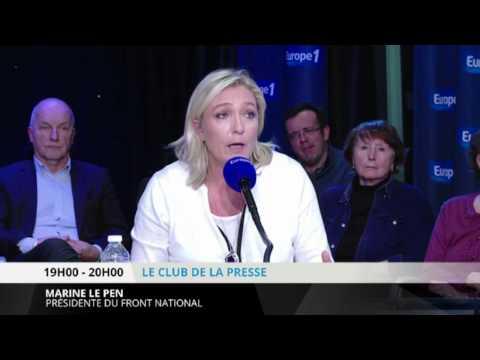 2014 novembre 04 Europe 1 Marine Le Pen