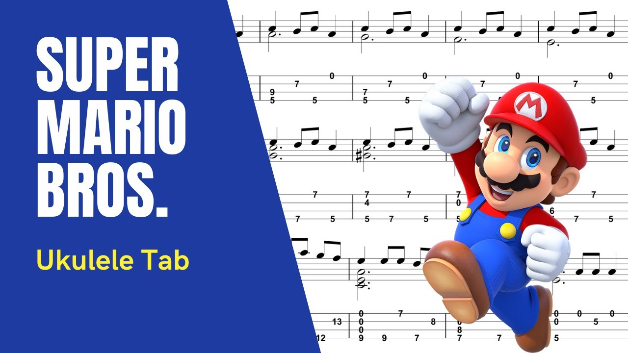 Sungha Jung - Super Mario Theme [Ukulele Tutorial] (Tablature) - YouTube
