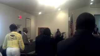"Me singing ""Children when you pray"" at Oak Level Missionary Baptist Church"
