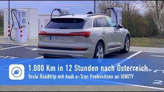 Tesla: 1.000 Km am Stück in 12 Stunden - Audi e-Tron Probesitzen am Supercharger
