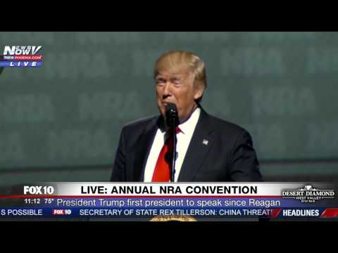 WOW: President Trump Refers To Sen. Elizabeth Warren As POCAHONTAS At 2017 NRA Convention