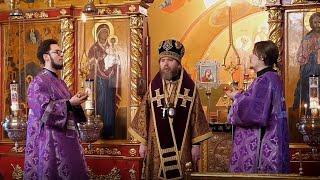 Божественная Литургия Преждеосвященных Даров в день прославления прп. Симеона Псково-Печерского