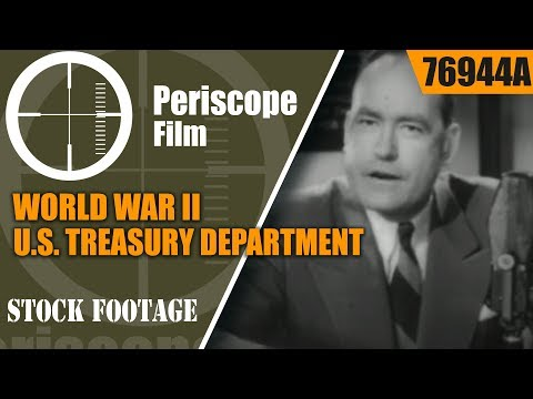 "WORLD WAR II U.S. TREASURY DEPARTMENT  ""On the War Bond Front""  76944a"