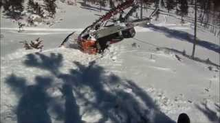 ★ Аварии на Снегоходах   Snowmobile Accidents   Accident de Motoneige №5 ★