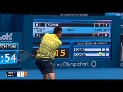 Bernard TOMIC (AUS) vs Blaz KAVCIC (SLO) FULL MATCH Apia International Sydney 2014
