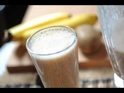 Licuado de kiwi. fresa y plátano - Kiwi. strawberry and banana shake - Recetas de licuados