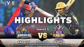 Karachi Kings vs Quetta Gladiators | Full Match Highlights | Match 6 | 23 Feb 2020 | HBL PSL 2020