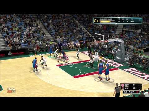 Pistons Vs.Bucks  ( 5 vs 5 ) 2K13 Teamup