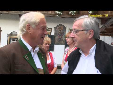 Empfang Jean-Claude Juncker beim Stanglwirt