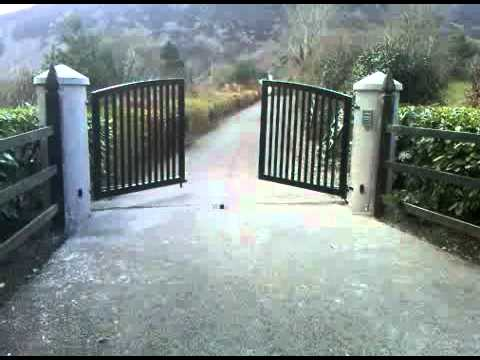 Modern design galvanised and powder coated steel gate - YouTube