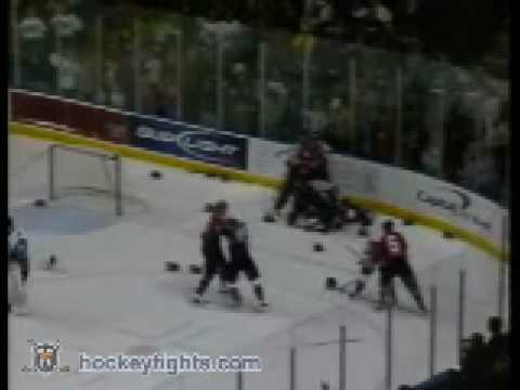 Corpus Christi IceRays vs Bossier-Shreveport Mudbugs Brawl Dec 26, 2008