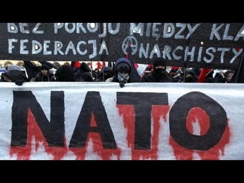 LIVE: Protest against Polish-NATO support for Kiev military