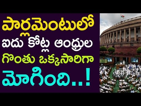 5 Crs Andhra Peoples Voice Speaking  In Parliament | Taja30 |