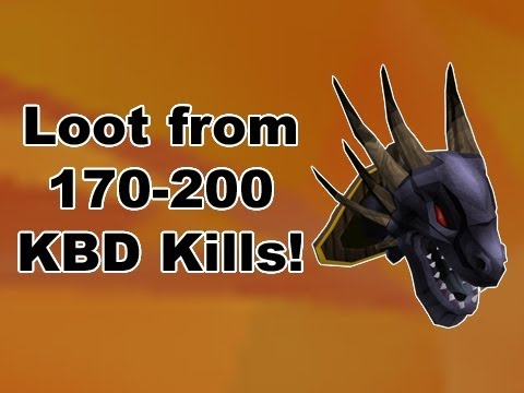 RuneScape King Black Dragon Drop/Graphical Updates - Loot from 170-200 KBD Kills!