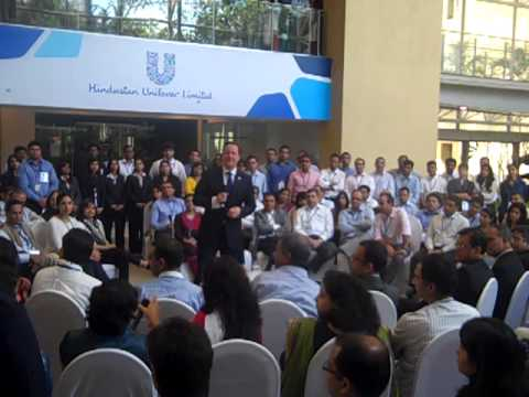 British Prime Minister David Cameron at Hindustan Unilever