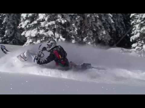 Snowmobiling in deep snow these small hours