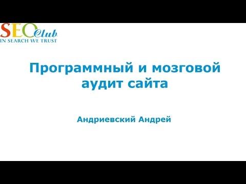 Программный и мозговой аудит сайта - Андриевский Андрей (SEO-Club)