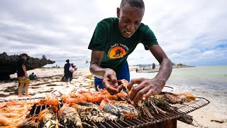 LOBSTER BEACH BBQ! And Unique Kenyan Street Food in Malindi, Kenya!