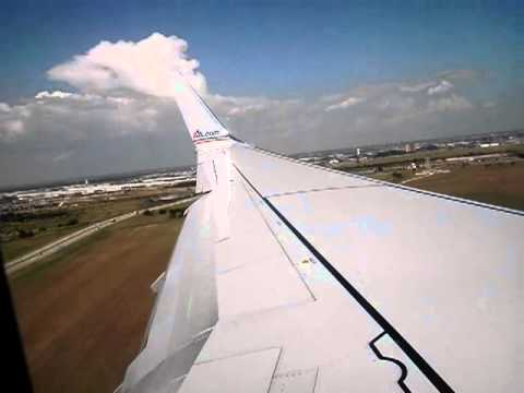 American Airlines B737-800 Dallas Fort-Worth (KDFW-DFW) Landing
