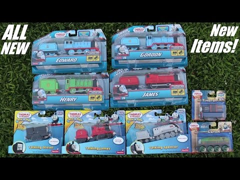 The ALL New Trackmaster Gordon, James, Henry and Edward! + New Take N Play