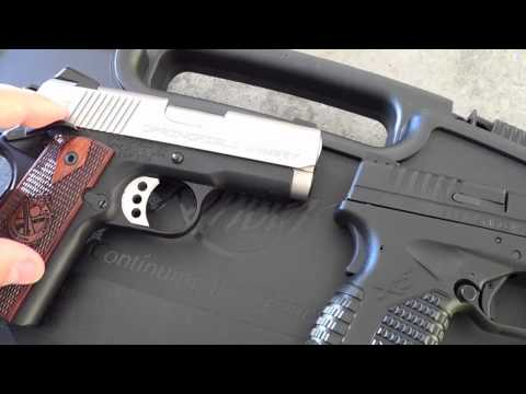 Springfield XDS vs Springfield EMP 1911: Size Comparison Only