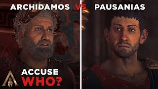 Accuse King Archidamos vs King Pausanias (Who is Working for The Cult?) - Assassin's Creed Odyssey