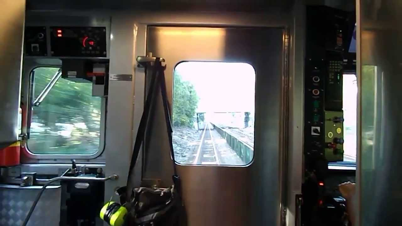 Mbta Hd Exclusive  Hyundai Rotem Cab 1814 On The Haverhill Line  Enthusiastic Conductor