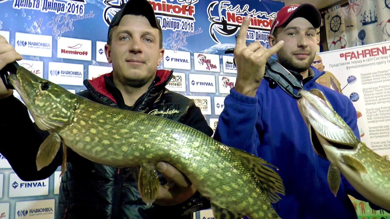 Ловля щуки осенью  Nemiroff Fishing 2016