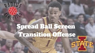 Iowa State Cyclones - Spread Ball Screen Transition Offense