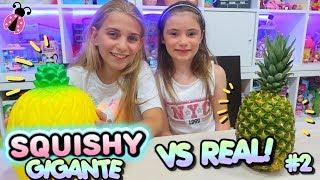 SQUISHY GIGANTE vs REAL FOOD #2 🍉🍍 Los juguetes de Arantxa