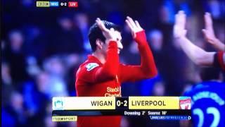 wigan vs liverpool 2/3/13 highlights 0-4 full highlights