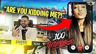 ARIANA GRANDE SENT ME A VIDEO ABOUT 100 THIEVES?! I CAN'T BELIEVE IT! (Fortnite: Battle Royale)