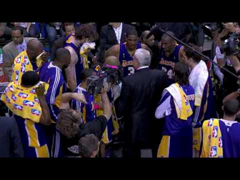 L.A. Lakers NBA Champions all-access celebration. Kobe Bryant MVP Pau Gasol