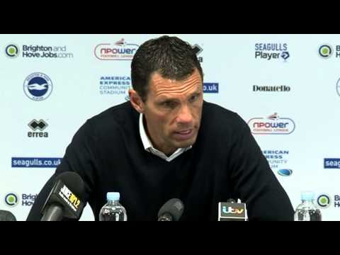 Gus Poyet after Brighton v Crystal Palace  13.5.2013 - Edit