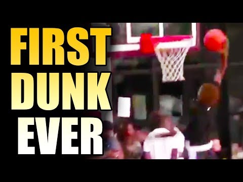 LEBRON JAMES JR DUNKS FOR THE FIRST TIME