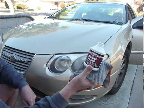 Headlight Restoration Brake Fluid