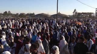 Tmket 2017 crowd praying Addis Ababa Ethiopia