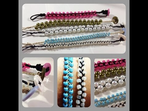 DIY: Braided Bead Stackable Bracelets ♡ Theeasydiy #FashionDIY