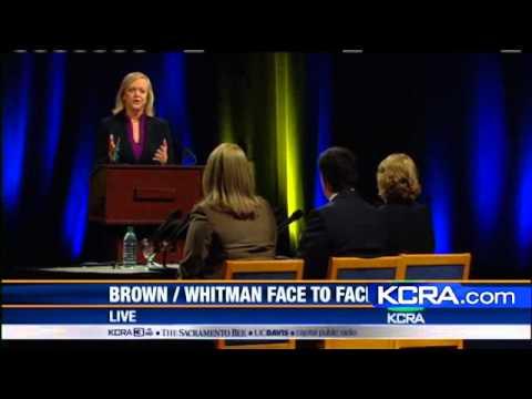 Brown-Whitman Debate: Dysfunction, Budget