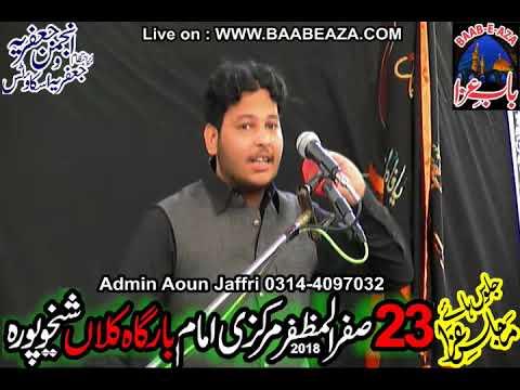 Zakir Saqib Imran Jaffri Majlis e Aza 23 Safar 2018 Imam Bargah Kalan Sheikhupura(www.baabeaza.com)
