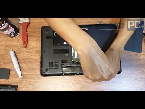 Laptop HP 635 - Limpieza del sistema de refrigeración, Pasta termina, Actualización a SSd y más RAM