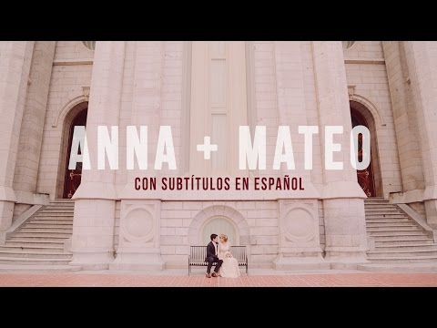 Salt Lake LDS Temple Wedding SPANISH SUBTITLES for Anna & Mateo by Utah Wedding Videographer