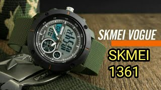 SKMEI 1361 DUAL TIME- setting setup watch full review jam tangan sport