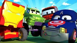 سيارات الدورية -  خاص بالمنتقمون - المنتقمون يقومون بحماية جيرمي رسوم متحركة للأطفال 🚓 🚒