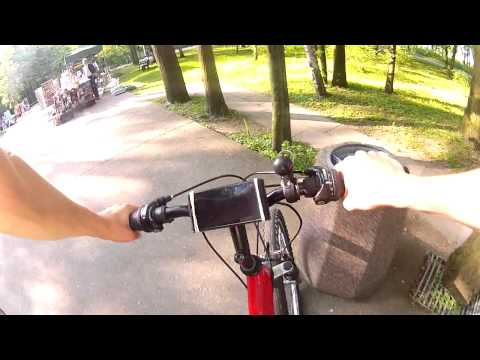 geocaching bicycle trip Gdańsk - Westerplatte