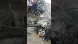 RESCATE A CONDUCTORA EN ACCIDENTE EN CALI