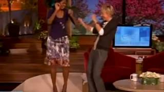 Michelle & Barack Obama dancing with Ellen DeGeneres