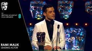 Rami Malek Wins Leading Actor for Bohemian Rhapsody | EE BAFTA Film Awards 2019