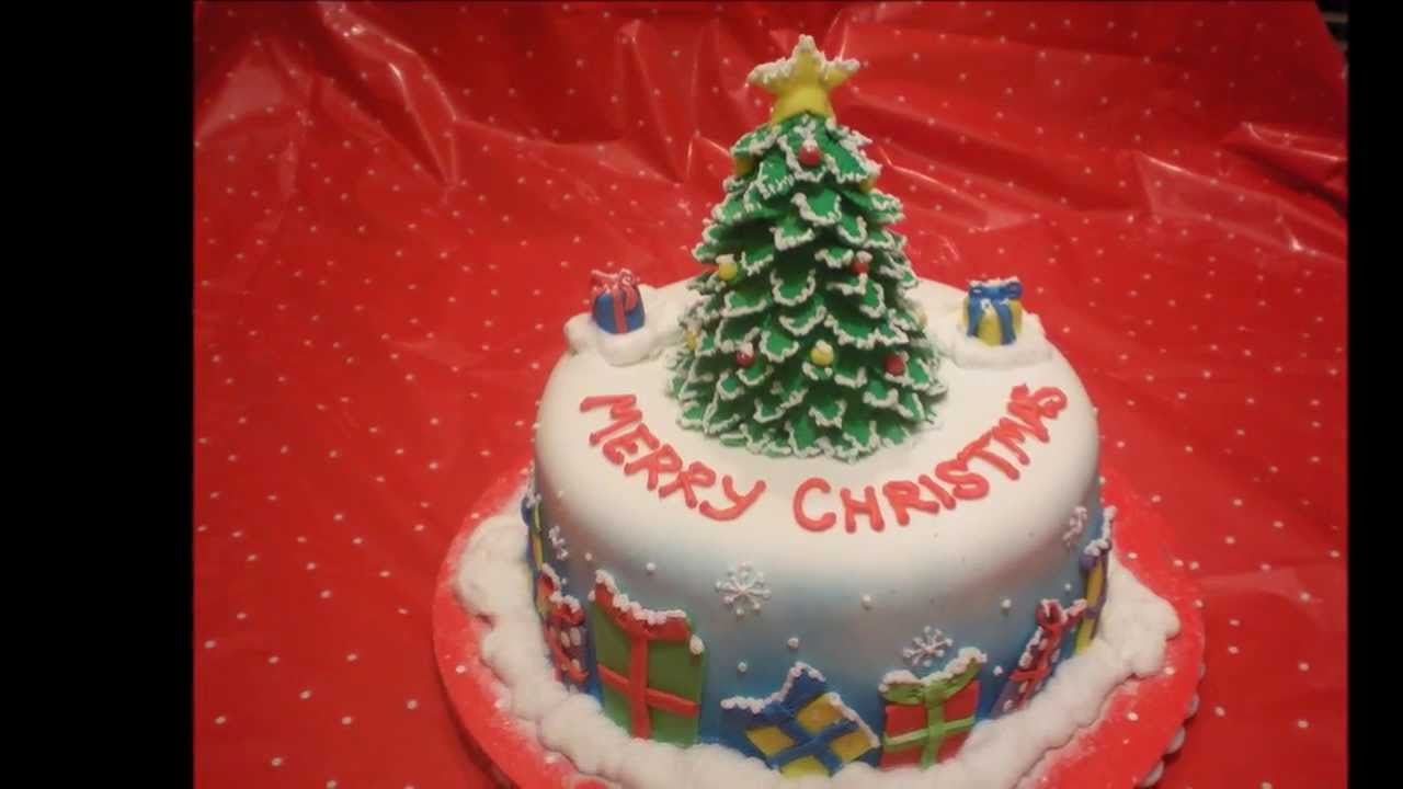 Fondant Cake Designs For Christmas : Christmas Ideas: Fondant Cakes - YouTube